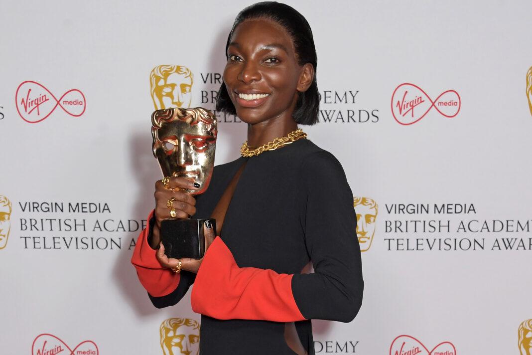 Foto di Michaela Coel ai BAFTA 2021